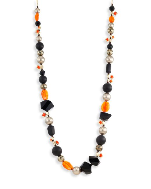 Alexis Bittar | Metallic Elements Mosaic Futurist Beaded Strand Necklace | Lyst
