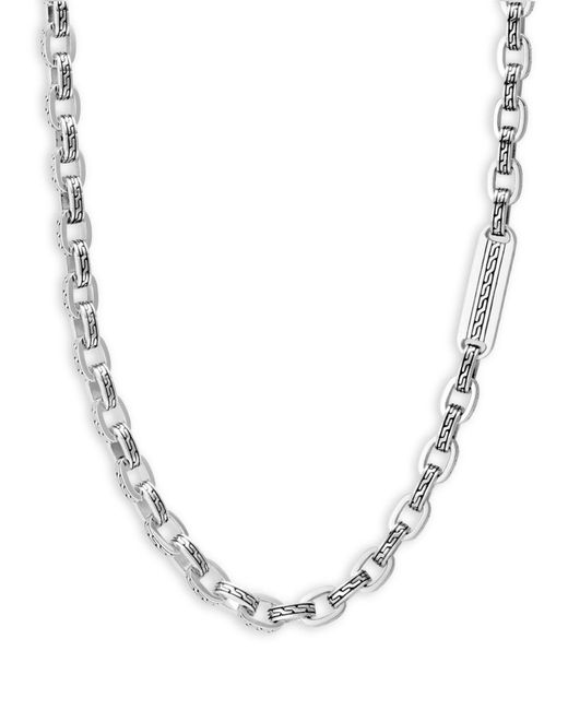 John Hardy Metallic Men's Classic Chain Link Sterling Silver Necklace for men