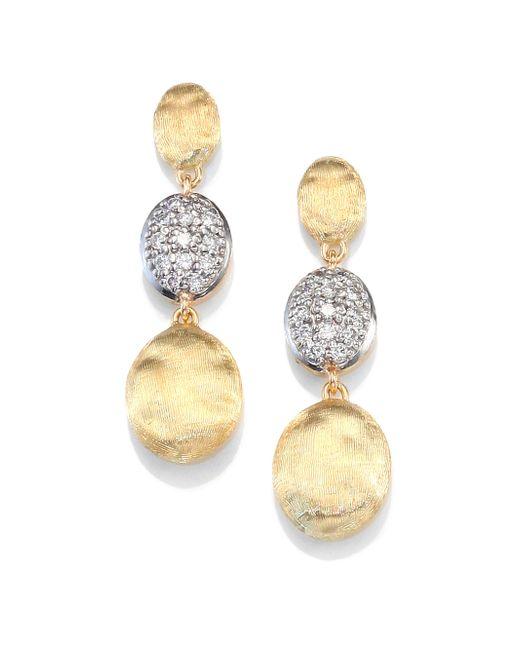 Marco Bicego - Metallic Siviglia Diamond & 18k Yellow Gold Triple-drop Earrings - Lyst