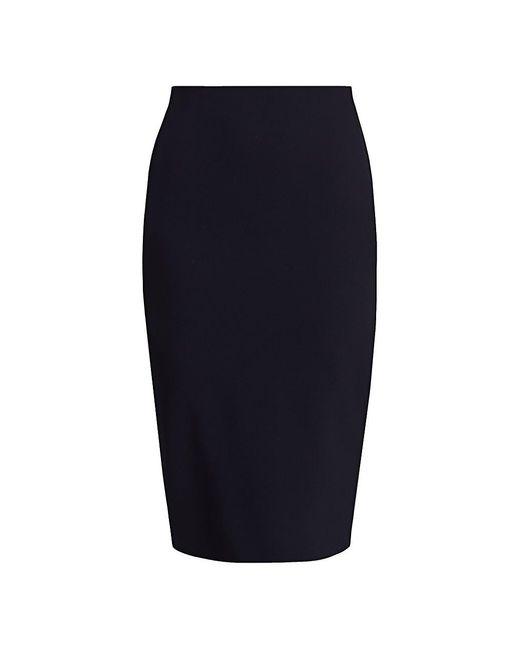 Victoria Beckham Blue Crepe Pencil Skirt