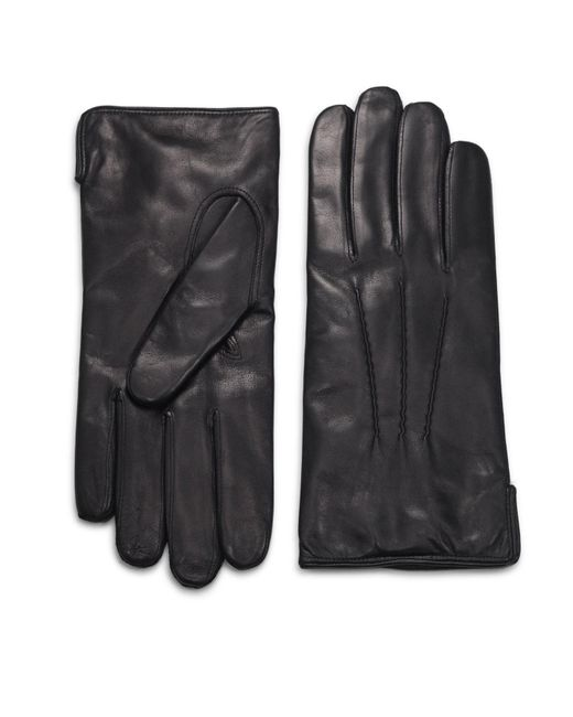 Saks Fifth Avenue Red Leather Gloves for men