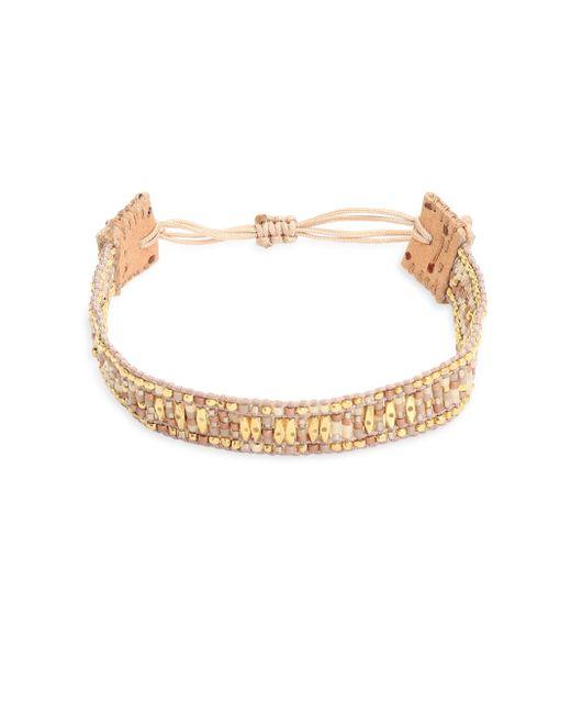 Chan Luu - Multicolor Beaded Leather Bracelet - Lyst