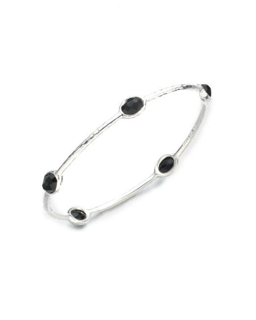 Ippolita   Rock Candy Black Onyx & Sterling Silver Five-stone Bangle Bracelet   Lyst