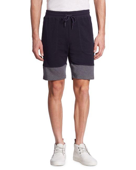 Saks Fifth Avenue | Blue Colorblock Drawstring Shorts for Men | Lyst