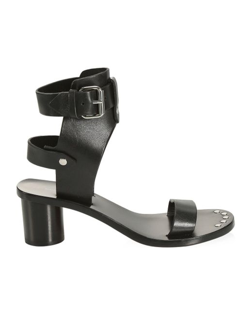 600379e96be Isabel Marant Jaeryn Studded Leather Sandals in Black - Save 39% - Lyst