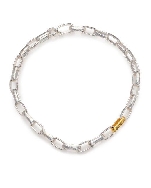 Gurhan - Metallic Hoopla 24k Yellow Gold & Sterling Silver Geometric Link Necklace - Lyst