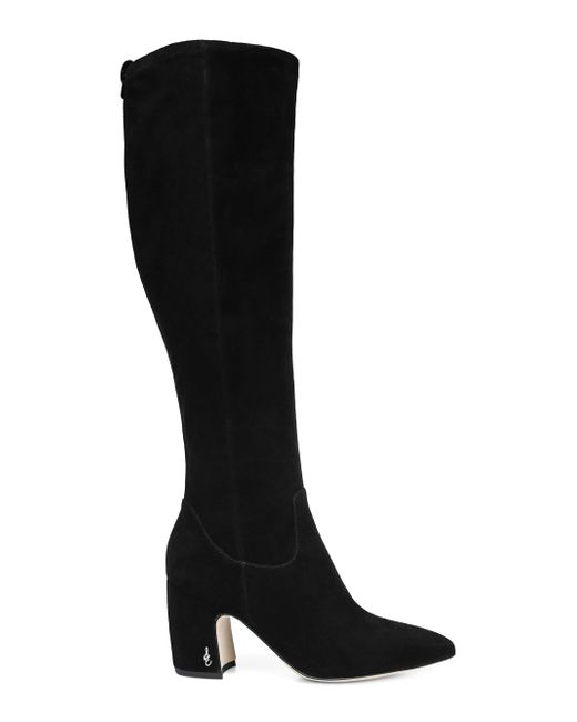 f7d7d0185e2 Lyst - Sam Edelman Women s Hai Suede Over-the-knee Boots in Black ...
