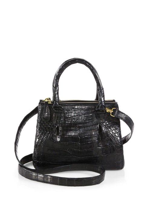 Nancy Gonzalez - Black Crocodile Mini Pliss & #233 Crossbody Bag - Lyst