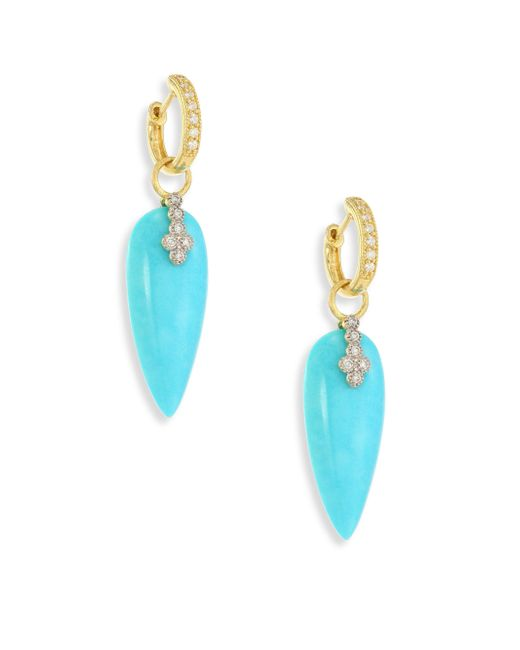 Jude Frances - Blue Provence Champagne Diamond & Turquoise Teardrop Earring Charms - Lyst