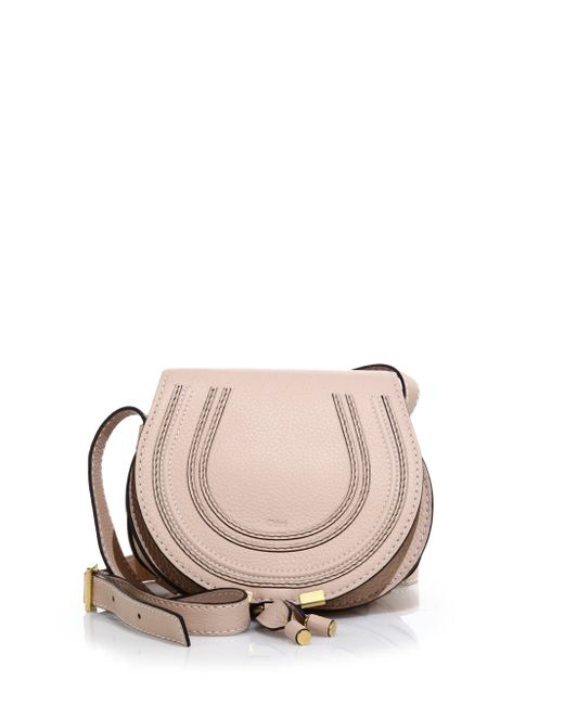 Chloé - Pink Marcie Small Crossbody Bag - Lyst