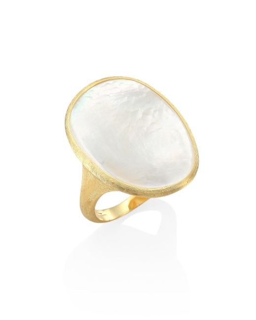 Marco Bicego - Metallic Lunaria Mother-of-pearl & 18k Yellow Gold Ring - Lyst