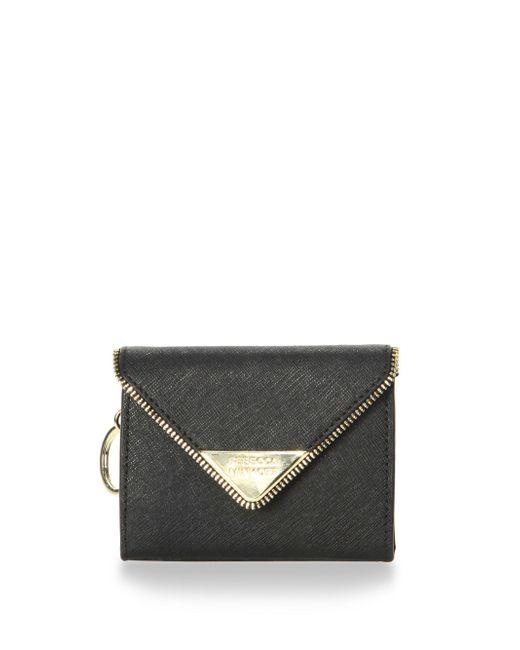 Rebecca Minkoff | Black Molly Metro Leather Wallet | Lyst