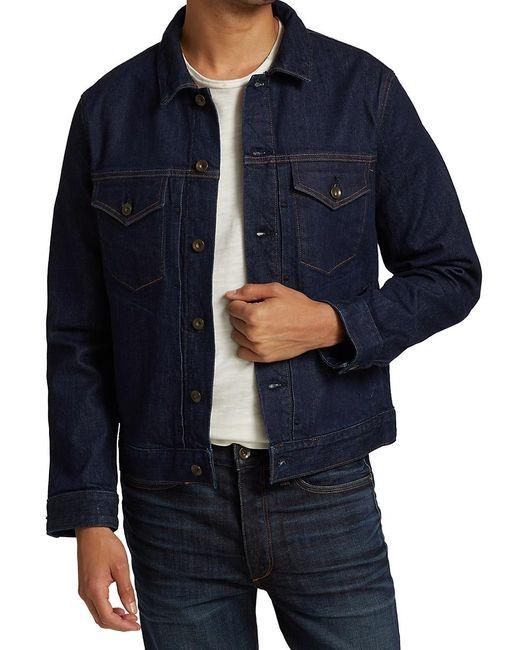 Rag & Bone Blue Definitive Jean Jacket for men