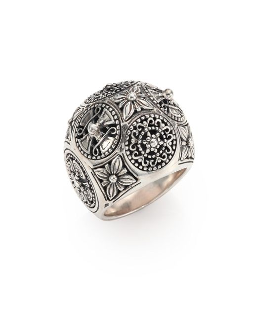 Konstantino - Metallic Penelope Sterling Silver Dome Ring - Lyst