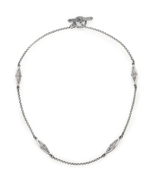 Konstantino - Metallic Kerma Sterling Silver Station Necklace - Lyst