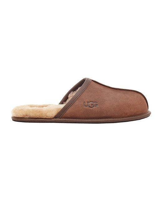 Ugg Brown Scuff Fur-lined Mule Slippers for men