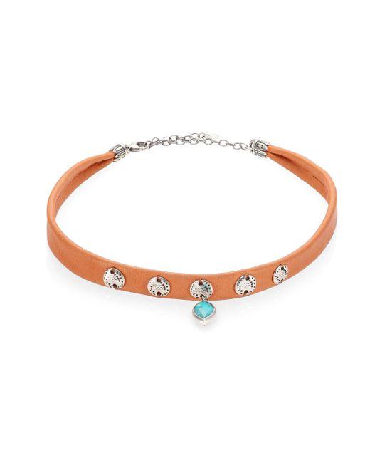 Chan Luu   Multicolor Lapis & Leather Choker Necklace   Lyst