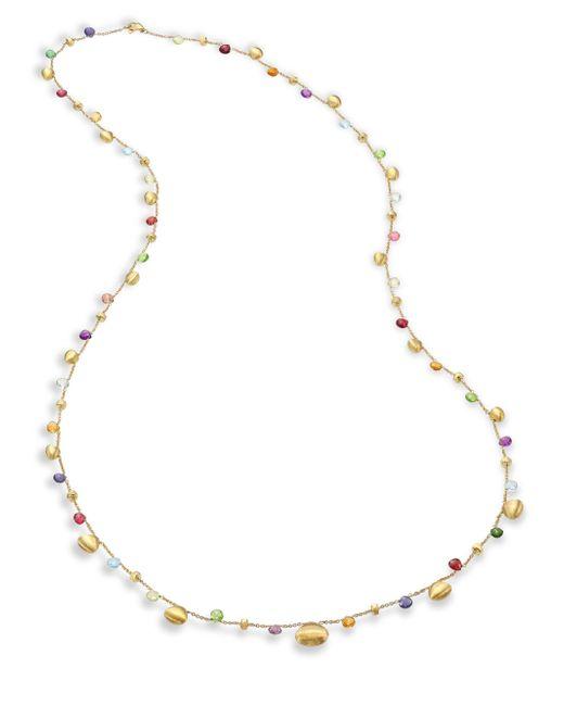 Marco Bicego - Multicolor Paradise Semi-precious Multi-stone Graduated Long Necklace/35 - Lyst