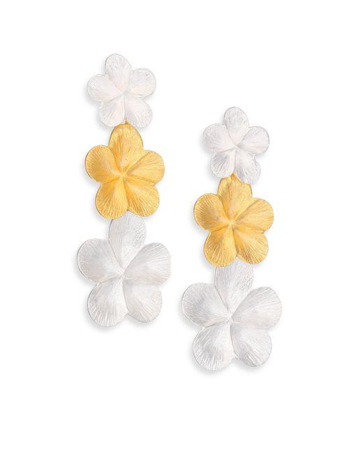 Stephanie Kantis   Metallic Violet Two-tone Drop Earrings   Lyst