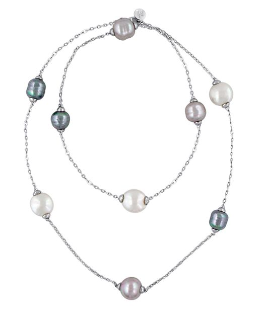 Majorica | Metallic 12-15mm Multi-color Baroque Pearl And Sterling Silver Necklace | Lyst