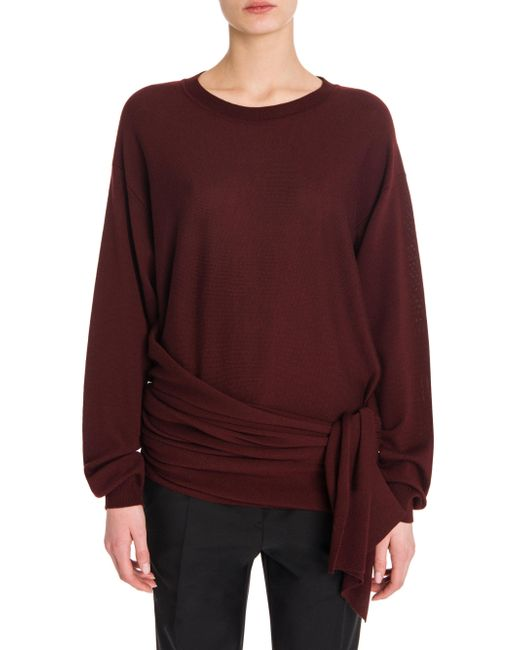 Jil Sander | Purple Wool Side Knot Sweater | Lyst