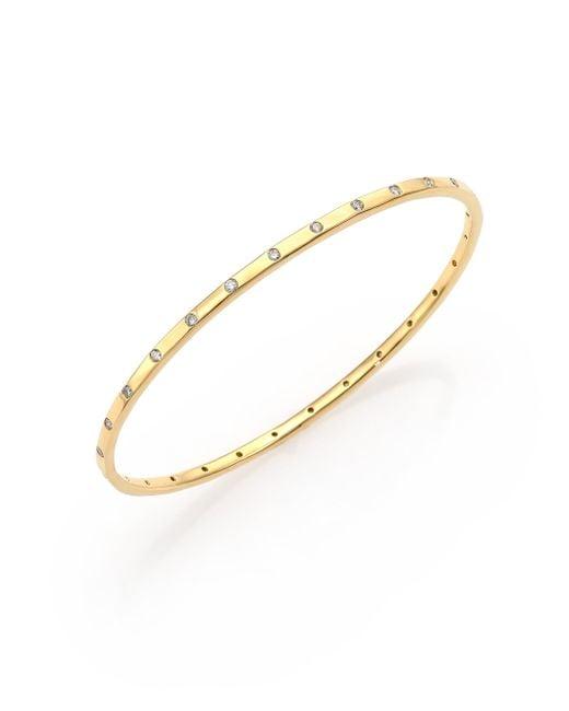 Ippolita - Metallic Glamazon Stardust Diamond & 18k Yellow Gold Bangle Bracelet - Lyst