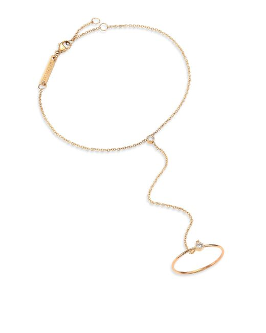 Zoe Chicco - Metallic Diamond & 14k Yellow Gold Hand Chain Bracelet - Lyst