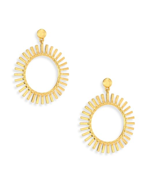Lele Sadoughi - Metallic Hula Hoop Earrings/1.5 - Lyst