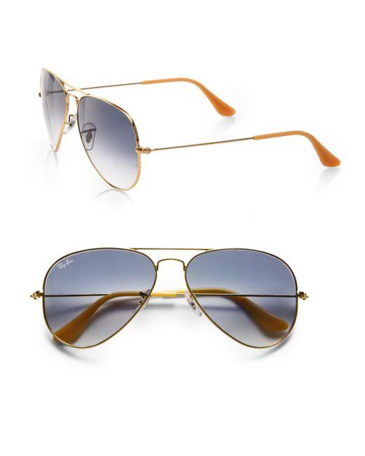 Ray-Ban - Blue Original Aviator Sunglasses - Lyst