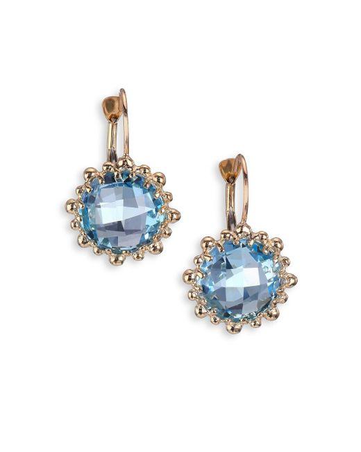 Anzie - Sky Blue Topaz & 14k Yellow Gold Earrings - Lyst