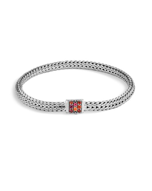 John Hardy | Metallic Classic Chain Red Sapphire Bracelet | Lyst