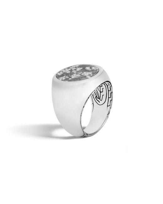 John Hardy | Gray Classic Silver Ring | Lyst