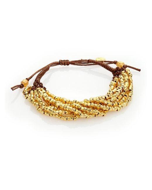 Chan Luu - Metallic Beaded Cord Multi-strand Bracelet - Lyst