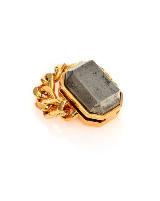 House of Lavande - Metallic Batari Pyrite Chain Ring - Lyst