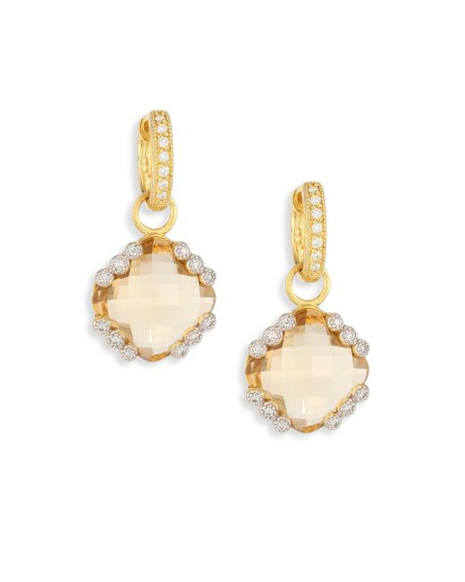Jude Frances | Metallic Provence Champagne Citrine & Diamond Earring Charms | Lyst