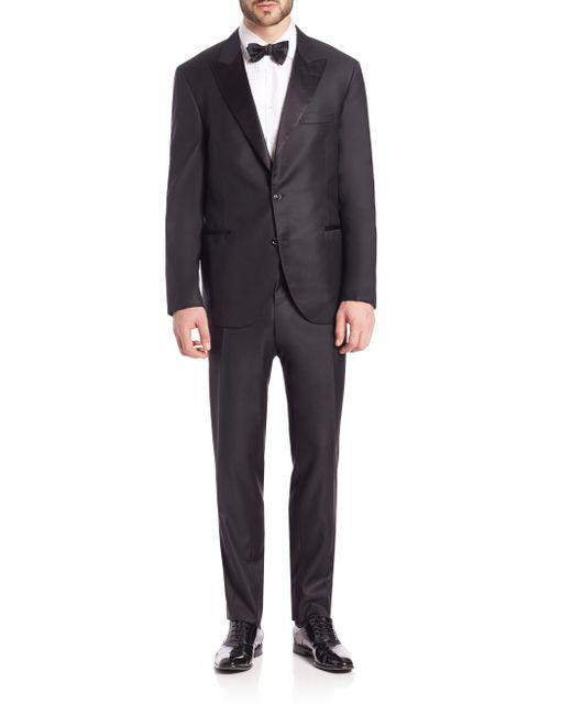 Brunello Cucinelli - Black Wool Tuxedo Suit for Men - Lyst