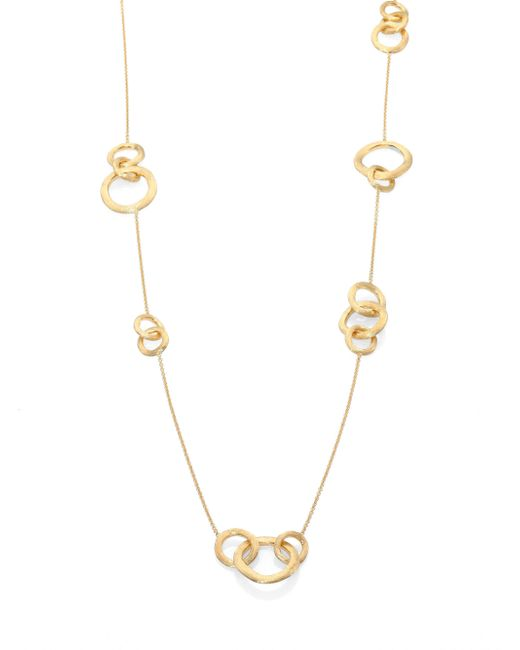 Marco Bicego - Metallic Jaipur Link 18k Yellow Gold Station Necklace - Lyst
