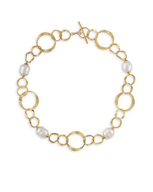 Majorica - White Baroque Pearl Collar Necklace - Lyst