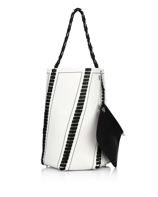 Proenza Schouler | White Hex Large Whipstitched Leather Bucket Bag | Lyst