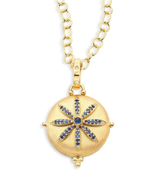 Temple St. Clair - Metallic Celestial Sorcerer Diamond, Blue Sapphire & 18k Yellow Gold Locket - Lyst