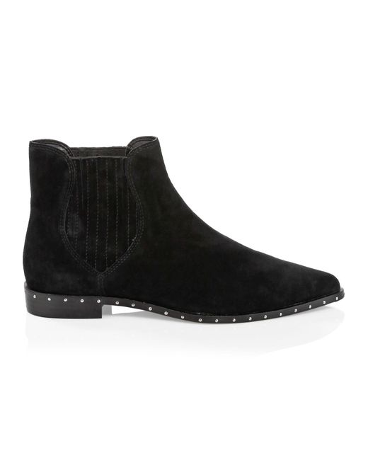 Rebecca Minkoff Black Madysin Suede Chelsea Boots