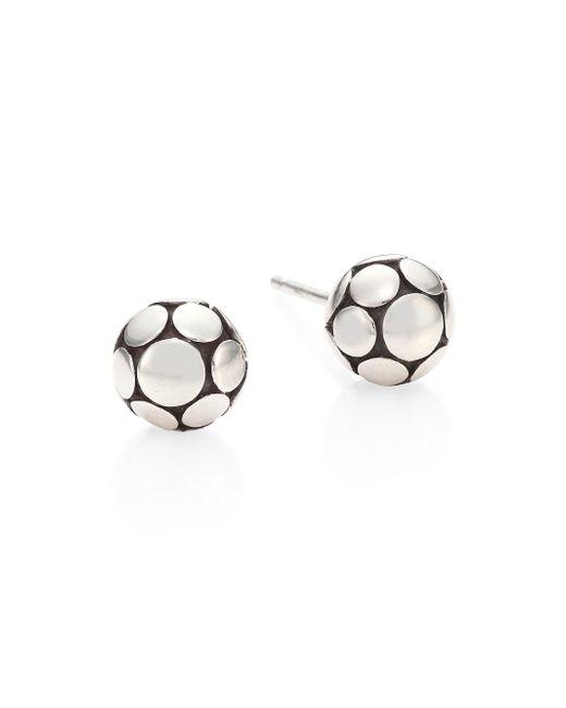 John Hardy - Metallic Dot Small Silver Ball Stud Earrings - Lyst
