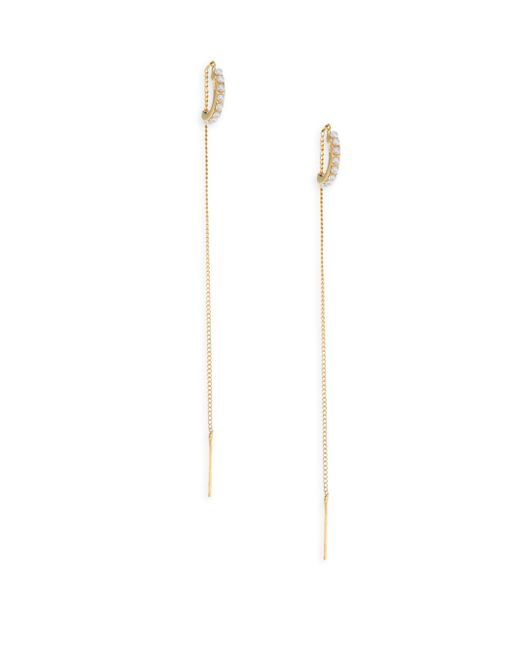 Vita Fede - Metallic Luna Faux-pearl Threader Earrings - Lyst