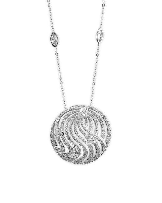 Adriana Orsini - Metallic Lush Crystal Pendant Necklace - Lyst