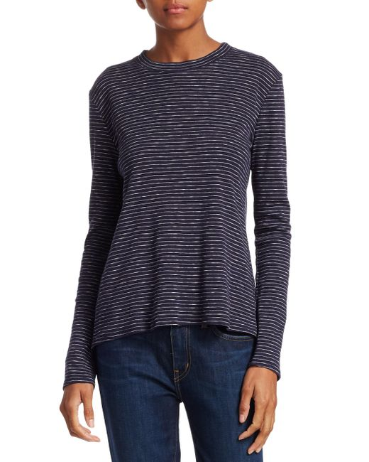 10 Crosby Derek Lam - Blue Stripe Long Sleeve T-shirt - Lyst