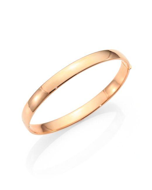 Roberto Coin   Pink 18k Rose Gold Bangle Bracelet   Lyst