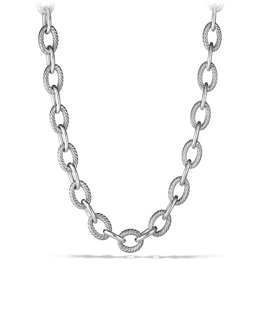 "David Yurman - Metallic Oval Extra-large Link Necklace/18"" - Lyst"