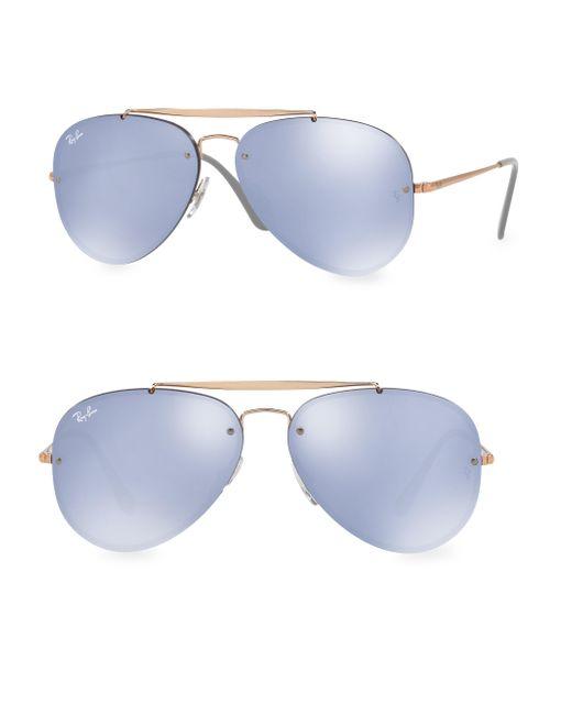 Ray-Ban - Blue Iconic Aviator Sunglasses - Lyst