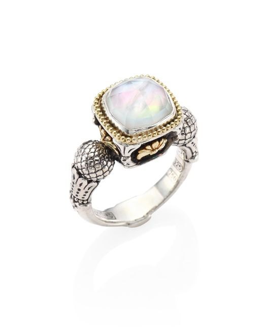 Konstantino   Multicolor Nemesis Mother-of-pearl Doublet Ring   Lyst
