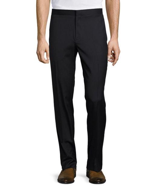Theory | Black Marlo Hamburg Tuxedo Pants for Men | Lyst